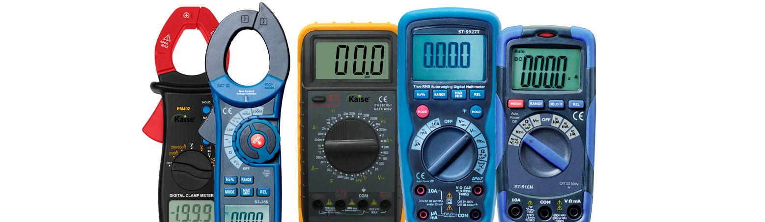 Multimetros y pinzas amperimetricas
